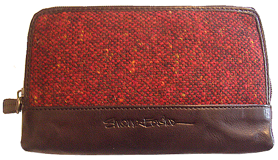 Shona Easton Donna Purse Red Donegal tweed