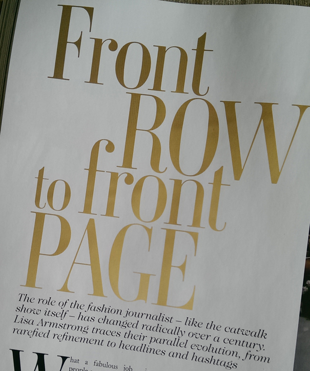 Vogue Front Row to Front Page