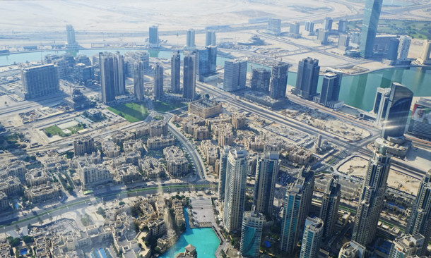 Looking at our place from Burj Khalifa